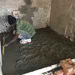 Renovation Somerset West Cape Town 2nd bedroom casting concrete floor foe shower area