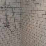 Renovations Stellenbosch Cape Town Victorian shower mixer, arm and rose installed