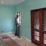 Renovations Stellenbosch Cape Town prepared and painting walls