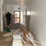Kitchen Renovation Cape Town busy demolishing old kitchen