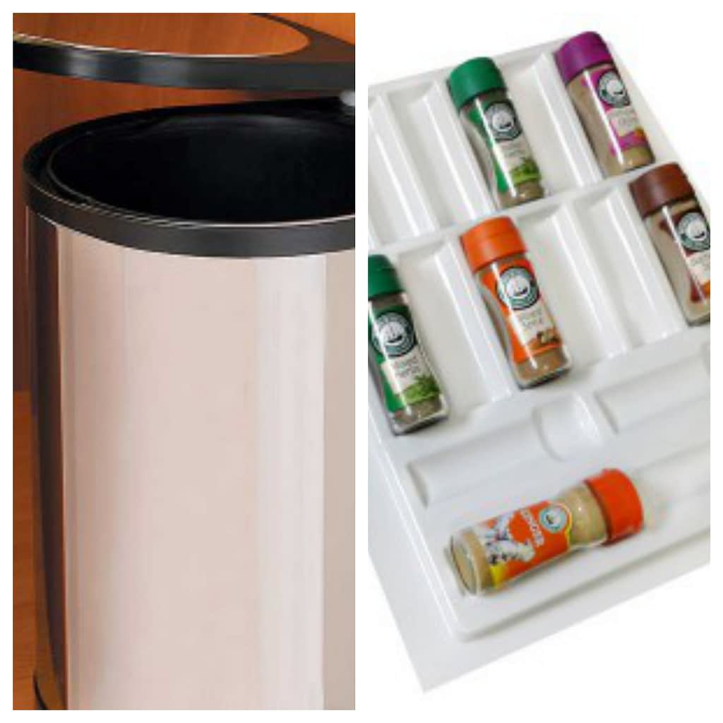 Kitchen Renovations Cape Town Drawer organiser and bin examples