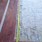 Renovation Stellenbosch Cape Town with tape on floor, make sure of sizes