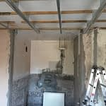 Renovation Somerset West Cape Town 2nd bedroom dropped ceiling structure installation