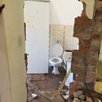 Renovation Somerset West Cape Town 2nd bedroom family bathroom door and frame removed