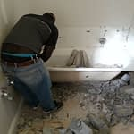 Removing a bath in a Bathroom Renovation in Cape Town